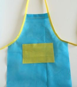 kids art apron with oly fun