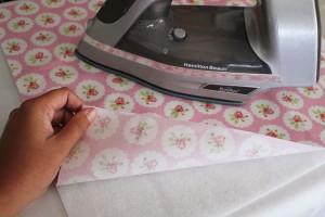 press fabric to fleece