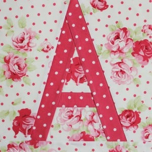 stitched letter A block
