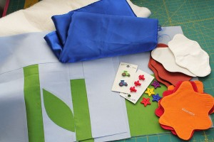 supplies for quilt block play mat
