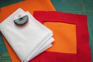 supplies for zipper block diaper clutch