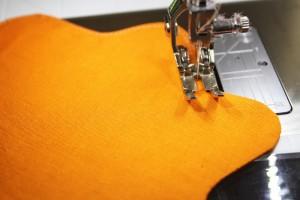 top stitch edge