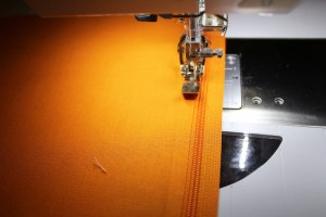 topstitch zipper in place