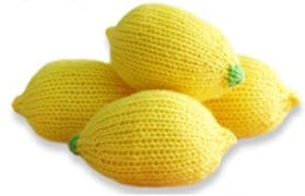 Lemon Stress Ball Knit
