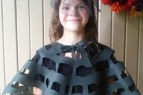 No-Sew OlyFun Spider Web Capelet Halloween Costume