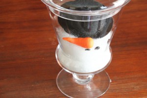 melted snowman in a jar