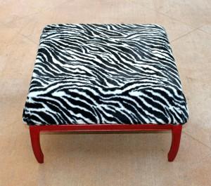 zebra ottoman DIY