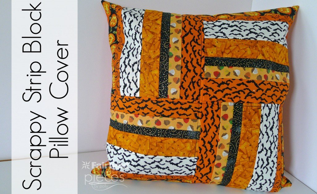 Scrappy Strip Block Halloween Pillow