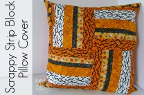 Halloween Scrappy Strip Block Pillow