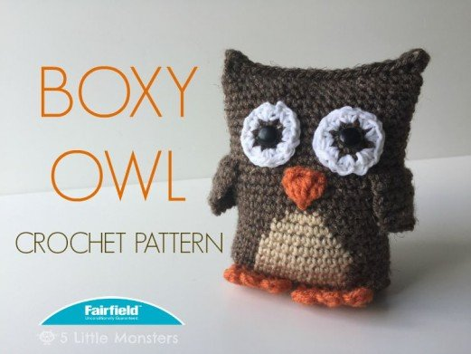 Free Amigurumi Owl Pattern : Boxy owl crochet pattern fairfield world craft projects