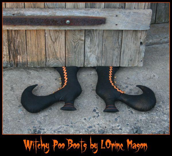 Olyfun stuffed whitch Boots
