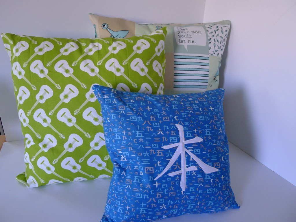 Simple Zipper Pillow 029