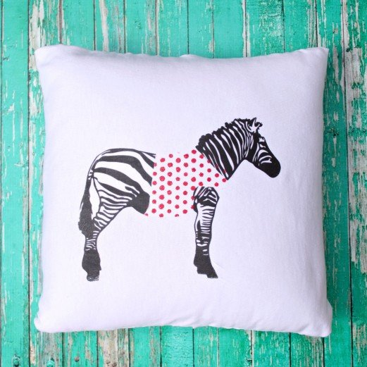 Anthropologie Knock Off Zebra Pillow