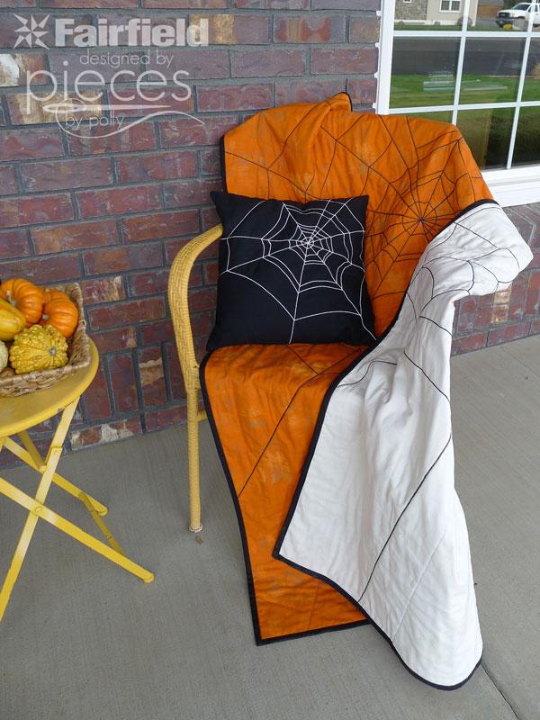 Reversible Spider Web Halloween Quilt
