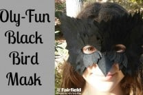OlyFun Black Bird Mask