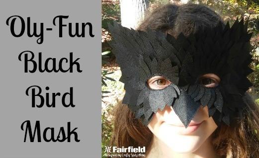 OlyFun Black Bird Mask