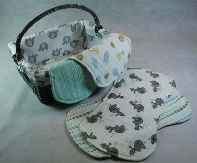 Baby Burp Pads featuring Shield moisture barrier
