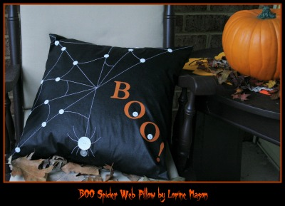 BOO Spider Web Pillow