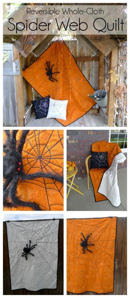 Spider Web Halloween Quilt