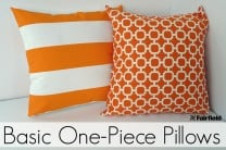 Basic One-Piece Pillow Cover