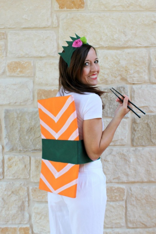 Sashimi Sushi Roll: Easy DIY Halloween Costume