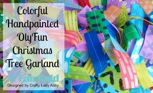 Colorful Handpainted OlyFun Christmas Tree Garland