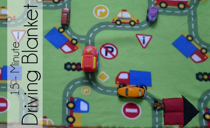 15-Minute Driving Blanket with Car Storage Pocket - Fairfield World Craft Projects