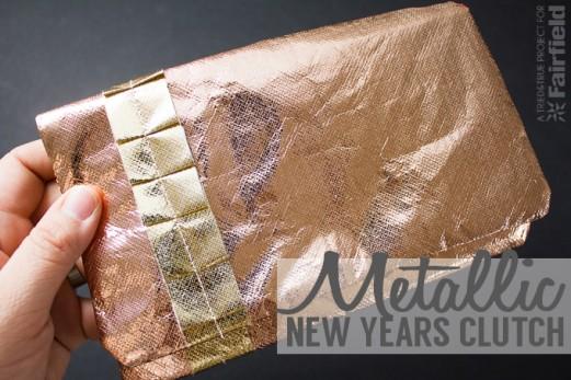 Metallic New Years Clutch