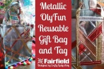 Metallic OlyFun Reusable Gift Bag and Tag