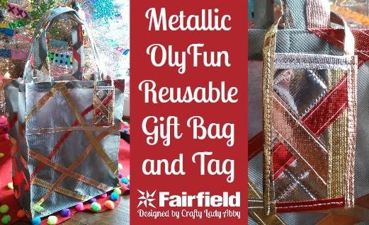 Metallic OlyFun Reusable Gift Bag and Tag