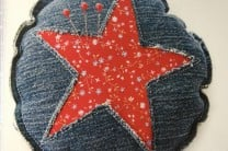 Denim Pin Cuchion
