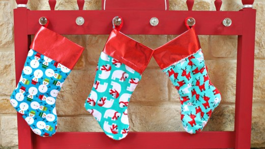 make retro inspired christmas stockings in minutes