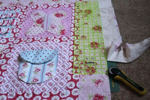 trim and square up quilt
