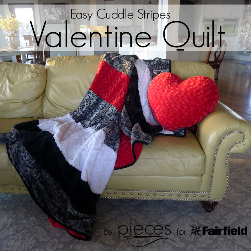 Simple Valentine Cuddle Quilt