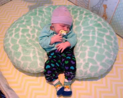 DIY Nurture Nest Baby Pillow