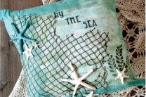 By the Sea Art Pillow
