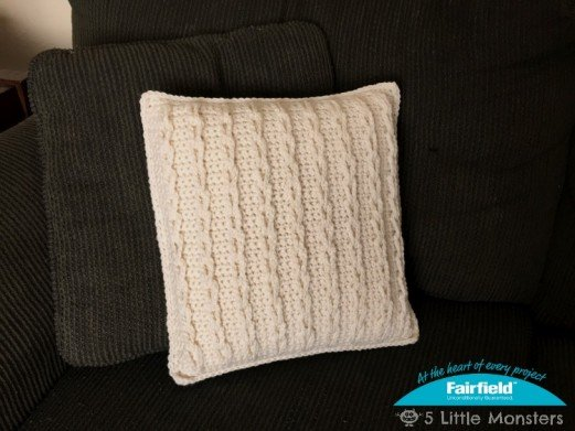 Crocheted Cable Loop Pillow
