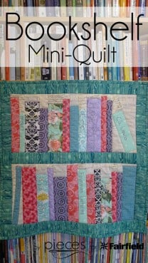 Bookshelf Mini-Quilt Tutorial