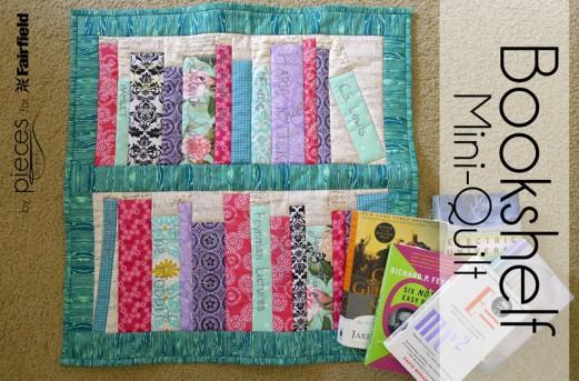 Spring Bookshelf Mini Quilt