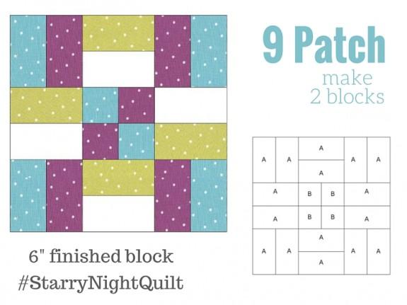 9 Patch Starry Night Art