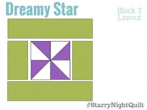 Dreamy Star in the Free 2016 BOM quilt series Starry Night Block of the month