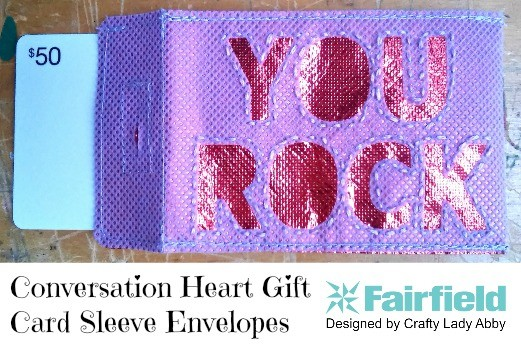 Conversation Heart Gift Card Sleeve Envelopes