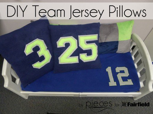 DIY Team Jersey Pillows