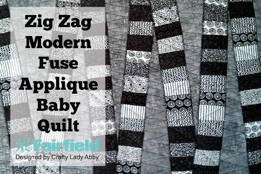 Zig Zag Modern Fuse Applique Baby Quilt