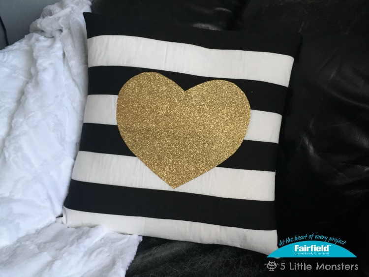 Black White And Gold Valentine S Day Pillow Fairfield
