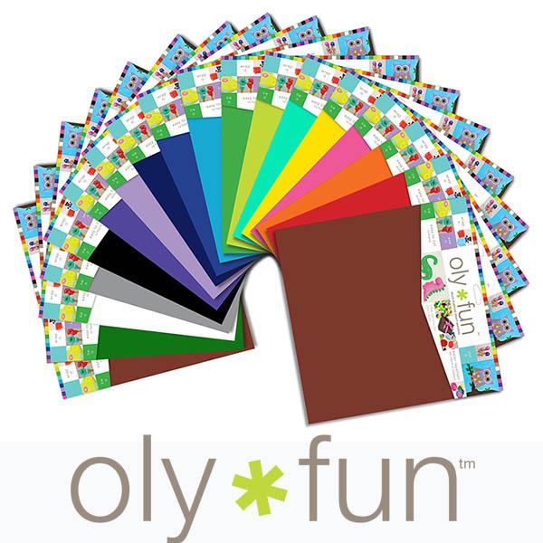 olyfun craft sheets color assortment