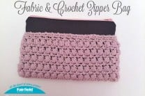 Fabric & Crochet Zipper Bag