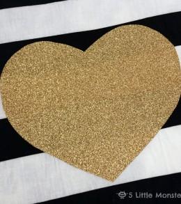 gold vinyl heart