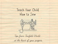 teach your child how to sew