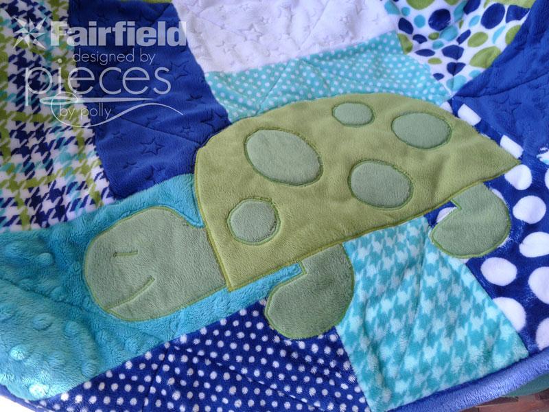 Spotty The Turtle Applique Pattern Fairfield World Craft
